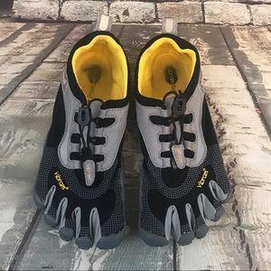 Vibram Black Gray Five Finger Running Water Shoes